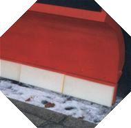 Felasto PUR - Hersteller von Räumleisten, Schneeschürfleisten, Schneepflugleisten, Schürfleisten, Schnee Schürfleisten, Leisten für Schneeschilder an Schneepflug / Schneepflügen. Für den Räumeinsatz von Kommunalen Winterdienst und Schneeräumgeräte mit Sch