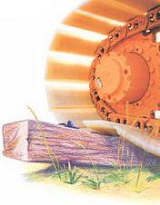 Bodendruckreduzierte Raupenketten