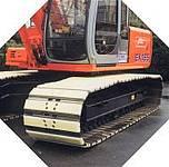 Raupenbagger ausgerüstet mit Felastec® - Raupenlaufwerkspolster, Bauma 2013